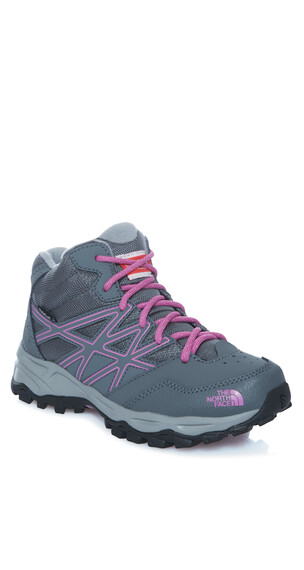 The North Face Hedgehog Hiker Mid WP Shoes Junior zinc grey/wisteria purple